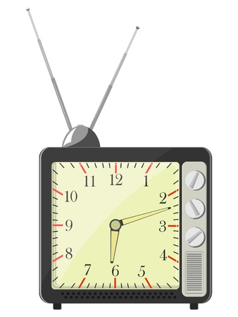 Vector illustration of retro in the form of TV hours Stock Vector - 11942916