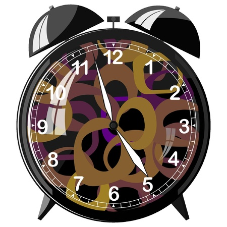 Vector illustration of retro alarm clock Stock Vector - 11942968