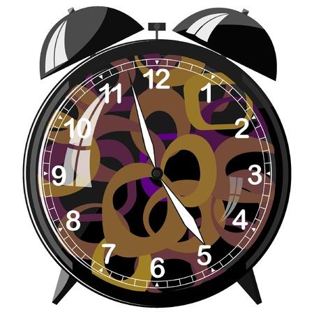 Vector illustration of retro alarm clock Stock Vector - 11942968