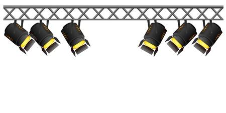 spotlights: focos. vector Vectores