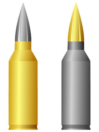 munition: rifle cartridge. vector Illustration