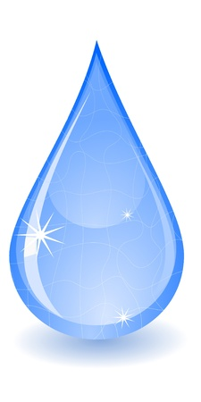 gocce di acqua: Illustrazione vettoriale di una goccia d'acqua