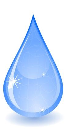 reflectie water: Vector illustratie van een druppel water