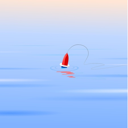 Vector illustration of a float on the water Vector