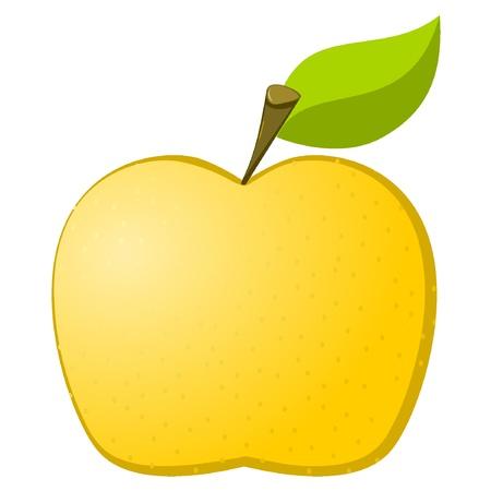 Vector illustration of a ripe apple Stock Vector - 11942752