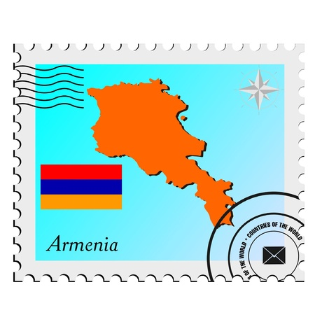 nternet: Vector stamp with the image maps of Armenia Illustration