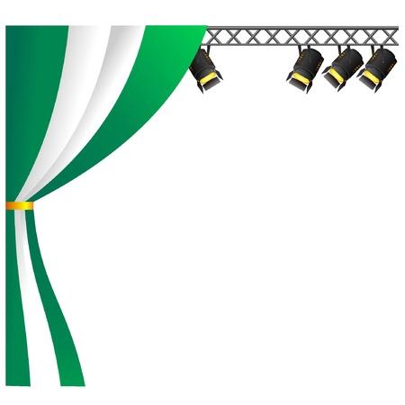 nigeria: Theater Nigeria. vector Illustration