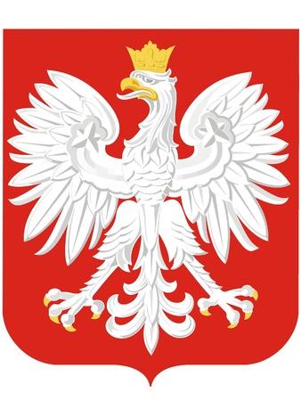 Narodowy ramiona Polska Ilustracje wektorowe