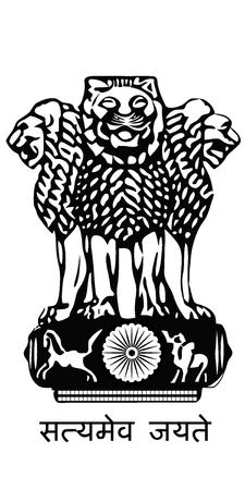 The arms of India Vector