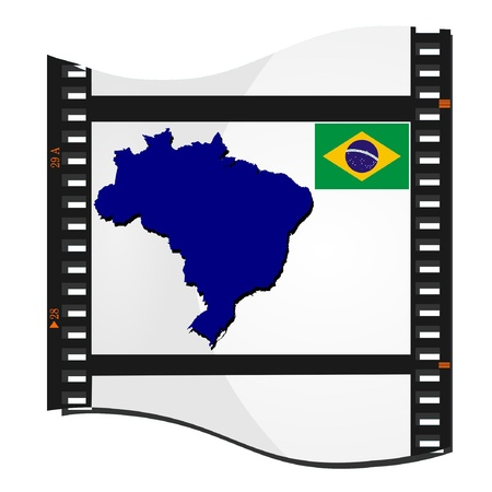 Vector image footage with a map of Brazil Vector
