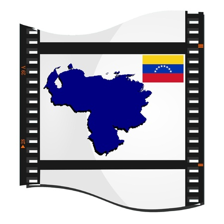 Vector image footage with a map of Venezuela Vector