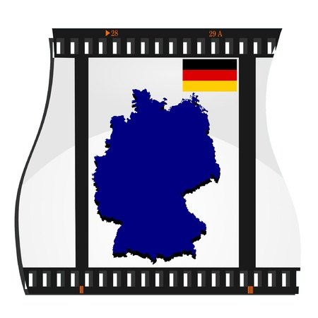 Vector image footage with a map of Germany Vector