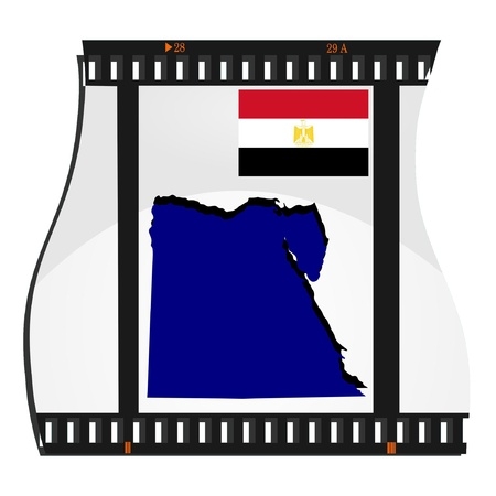 Vector image footage with a map of Egypt  Vector