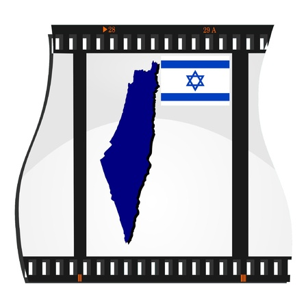 Vector image footage with a map of Israel Vector