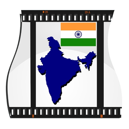 Vector image footage with a map of India Vector