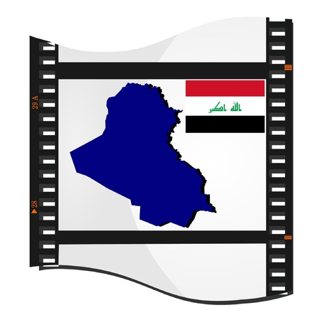 Vector image footage with a map of Iraq Stock Vector - 11942775