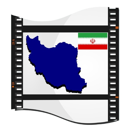 Vector image footage with a map of Iran Stock Vector - 11942967