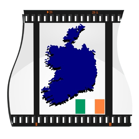 Vector image footage with a map of Ireland Stock Vector - 11942927