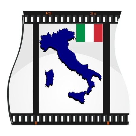 Vector image footage with a map of Italy Stock Vector - 11942866