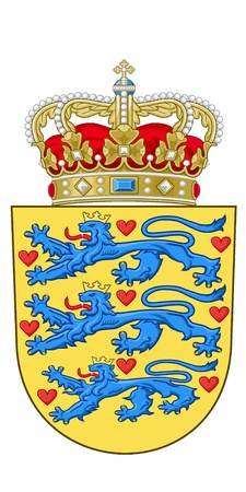 vector image of the national emblem of Denmark Vector