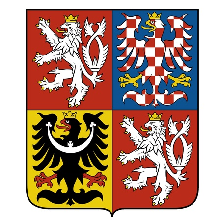 vector image of the national emblem of the Czech Vector
