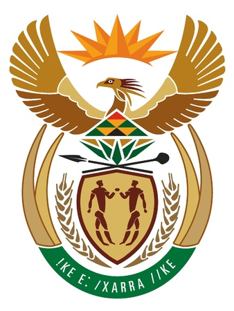 Vector national emblem of South Africa Vector