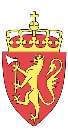Vector national coat of arms of Norway Vector