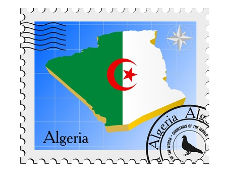 nternet: Vector stamp with the image maps of Algeria Illustration