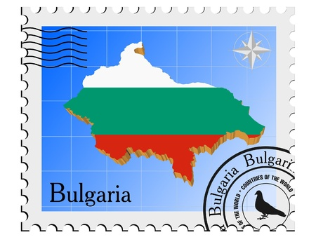 nternet: Vector stamp with the image maps of Bulgaria