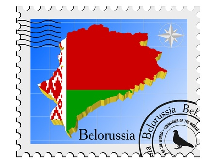 nternet: Vector stamp with the image maps of Belorussia