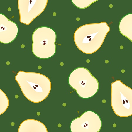 seamless texture with pear in section Vector