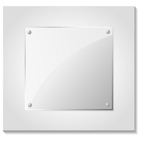 Vector illustration of a glass plate