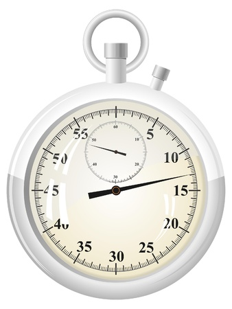 Vector illustration of a stopwatch Vector