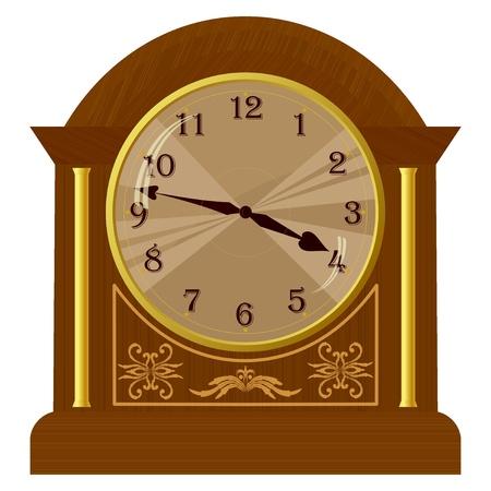 reloj de pendulo: Ilustraci�n del vector de reloj de piso viejo