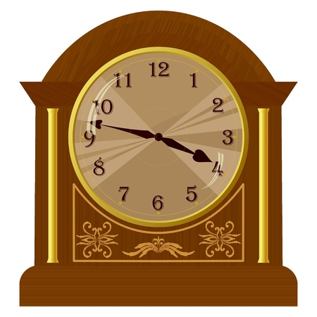 Vector illustration of old floor clock Vector