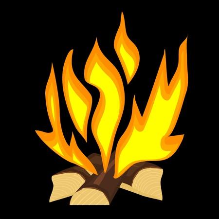 Vector illustration d'un incendie