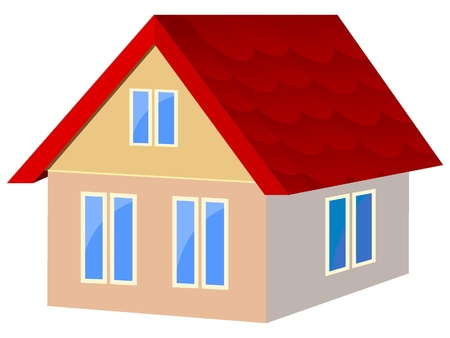 Vector illustration of houses with red tile Vector