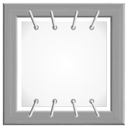 Vector image of the metal frame to the plate Vector