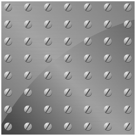 Vector illustration of a metal plate