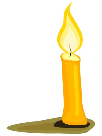 candle light: Vector illustration of a candle. Illustration