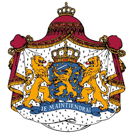 Vector coat of arms of Netherlands