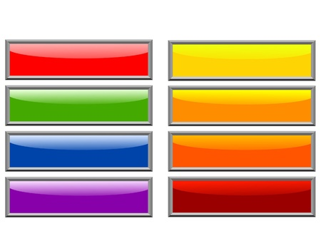 Set of color long buttons 8 Stock Photo - 11942666