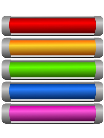 Set of color long buttons 10 Stock Photo - 11942716