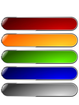 Set of color long buttons 2 Stock Photo - 11942662