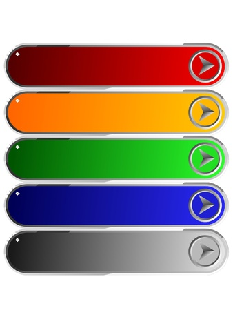 Set of color long buttons 5 Stock Photo - 11942667