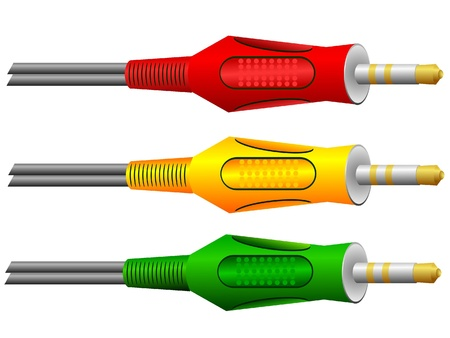detachable: Colored detachable connectors Stock Photo