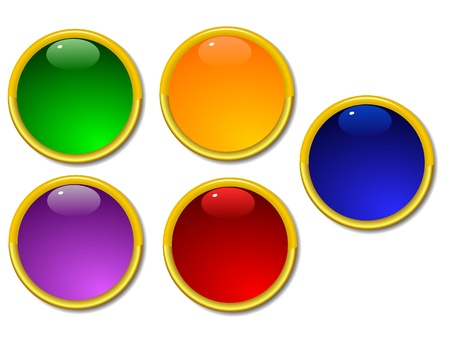 flute structure: Set of color buttons 2 Stock Photo