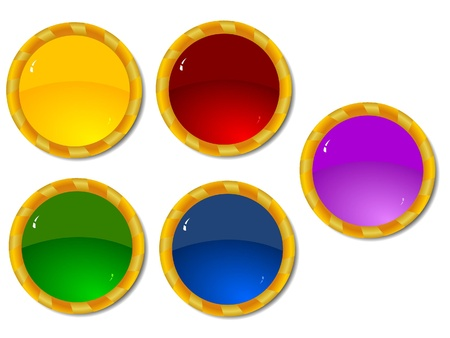 flute structure: Set of color buttons 3 Stock Photo