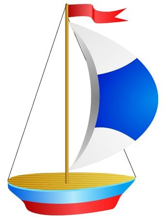 Vector illustration of Small ship illustration