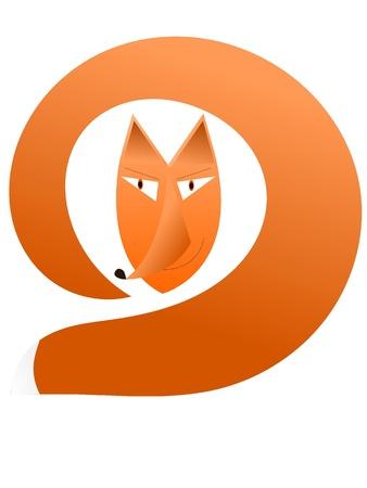 Vector illustration of a fox illustration